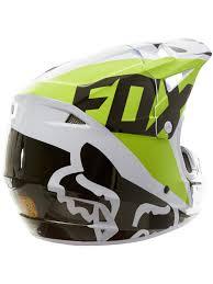 motocross helmet with visor fox white black green 2018 v1 race mx helmet fox