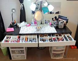 organizing makeup ideas bedroom divine make up desk ideas with organizing makeup ideas bedroom divine make up desk ideas with vanity mirrored desk makeup home decorating ideas