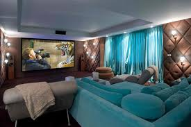 small home theater room ideas simple wall lighting brown laminate
