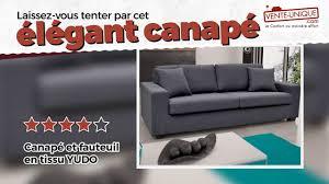 venteunique com canapé canapé et fauteuil en tissu yudo