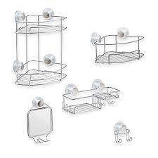 Bathroom Suction Shelves Interdesign Turn N Lock Suction Shower Accessories Bed Bath