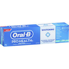toothpaste whitening oral b pro health fluoride toothpaste whitening mint 145g woolworths