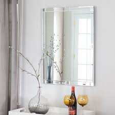 Kirklands Bathroom Mirrors by Bathroom Frameless Beveled Edge Mirror Frameless Beveled Mirror