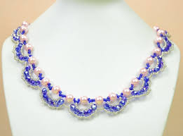 pearl necklace with crystals images Jewelry making tutorial how to make an ornate pearl and crystal jpg