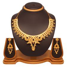 set of gold buy vendee fashion gold plated choker necklace set online best