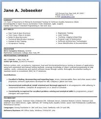 software testing resume sample qa resume samples software qa