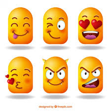 assortment of 3d emojis vector free