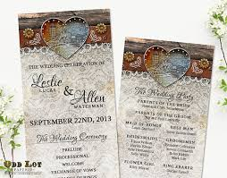 wedding ceremony programs diy rustic wedding programs barn wedding programs country wedding