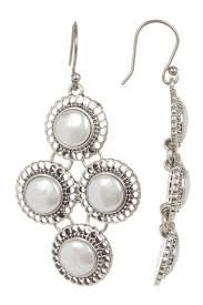 earrings brand lucky brand small pearl chandelier earrings nordstrom rack
