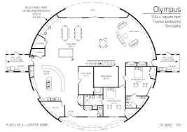 dome floor plans would use the main dome as a living area and turn the left and