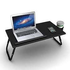 lighted laptop desk tray adjustable laptop tray in black bed bath beyond