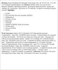 kpmg audit associate cover letter