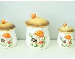 mushroom canisters etsy