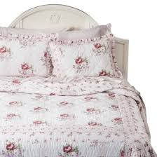 simply shabby chic mayberry rose quilt white pink my future