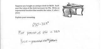 writing an exponential function from a description students are