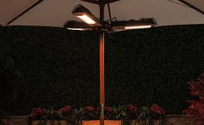Parasol Electric Patio Heater Fire Mountain 2kw Electric Halogen Parasol Heater Patiomate