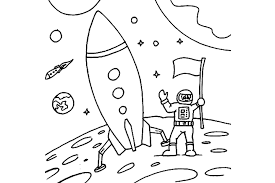 astronaut coloring page rocket and astronaut coloring pages pics about space