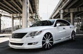 white lexus with black roof customized lexus ls460 exclusive motoring miami fl