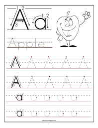 free printable worksheet letter a for your child to learn and