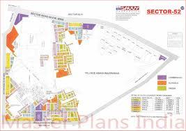 Gurgaon India Map by Huda Gurgaon Sector 52 Map U0026 Layout Master Plans India Forums
