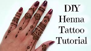 diy easy henna tattoo tutorial tips and tricks youtube