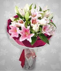 stargazer bouquet dozen stargazer and lilies
