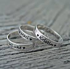 mothers rings stackable engraved mothers rings 3mm stackable rings personalized mothers jewelry