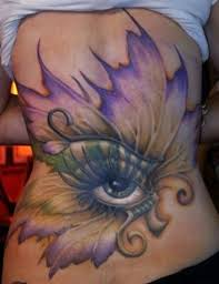 cool designed big eye with butterfly wings on back