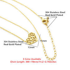 necklace choker length images Choker hollow heart necklace stainless steel rhalyn 39 s jpg