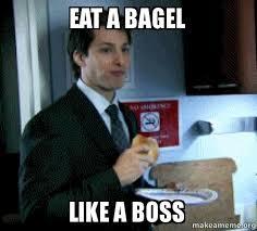 Boss Meme - eat a bagel like a boss make a meme