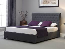 ottoman beds with mattress emporia kensington fabric ottoman bed grey from the bed station
