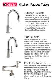 types of faucets kitchen delta kitchen faucets delta faucet single handle pulldown