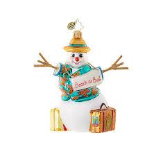 christopher radko ornaments radko snowmen going south for the