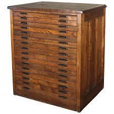 vintage industrial hamilton wood flat file multi drawer storage