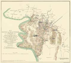 Ohio Canal Map by Civil War Map Antietam Battle Pennsylvania 1862