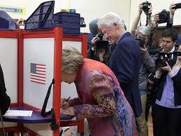 Clinton Estate Chappaqua New York Donald Trump Hillary Clinton And Bill Clinton Vote In New York