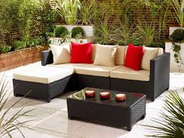 Rattan Table L Chic Perforated Wooden Fences For Black Outdoor Rattan Furniture