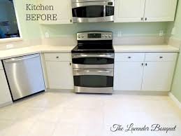 the lavender bouquet tlb s kitchen reveal ge profile and bosch stainless appliances replaced 4 years ago no backsplash no crown molding above cabinets home depot standard hardware