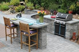 outdoor built in grill and bar outdoor kitchens pinterest