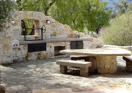 rustic outdoor kitchen ideas rustic outdoor kitchen patio mediterranean with bench entertaining