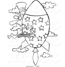 rocket outline clip art 31