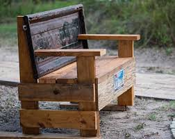 Bench Made From Tailgate Tailgate Bench Etsy