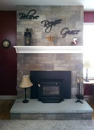 fusion dry stack fireplace in caramel stone fireplaces
