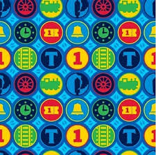 cotton fabric character fabric steam team express thomas
