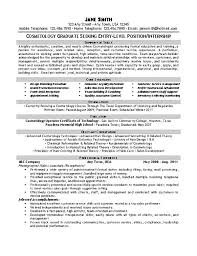 exles on resumes cosmetologist resume exle