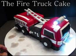 firetruck cakes truck cake