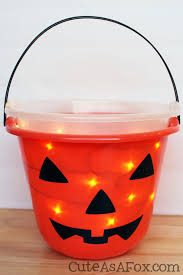 Halloween Buckets Light Up Trick Or Treat Pail