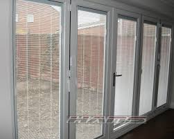top modern style exterior french doors with built in blinds