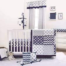 5 Piece Nursery Furniture Set by Nautical Whales And Anchors Navy 5 Piece Crib Bedding Set By The