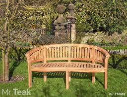 the deluxe solid teak banana bench amazon co uk garden u0026 outdoors